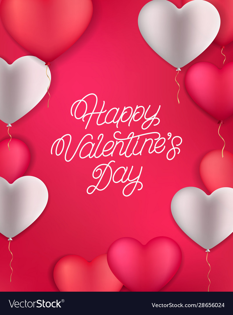 Happy valentines day hand written lettering