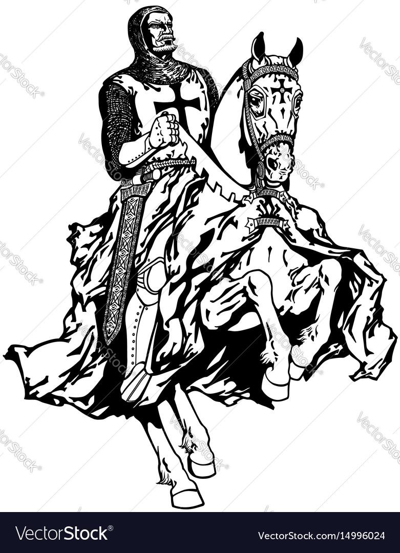 Crusader English Knight On Cavalry Horse Statue Phalanx Spear Horse Wa–  Ebros Gift | 1080x781