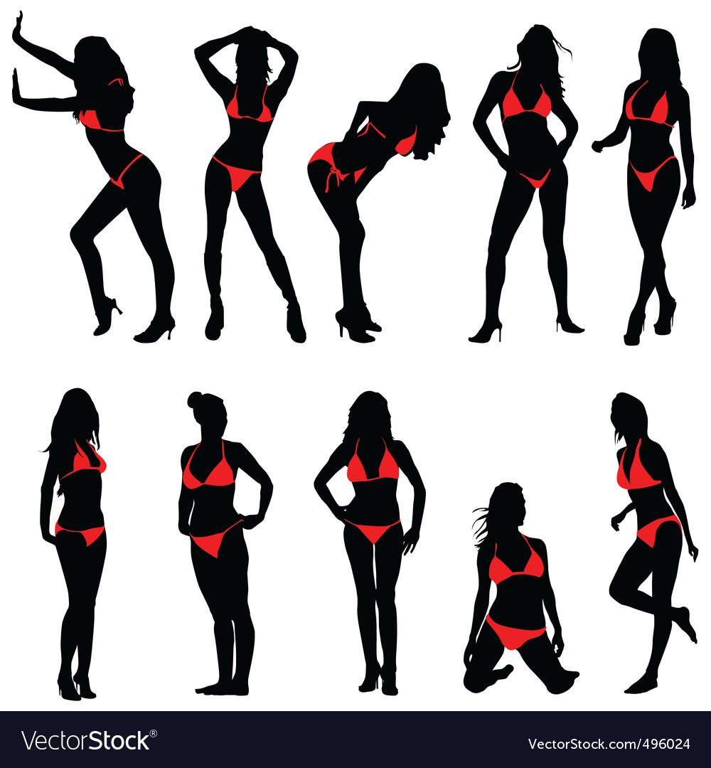 sexy women royalty free vector image vectorstock rh vectorstock com sexy victorias secret license plates Bomb Vector Girl Vector