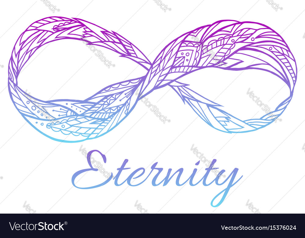 The sign of eternity with a boho vector image