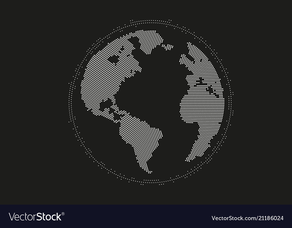 World map point line composition representing