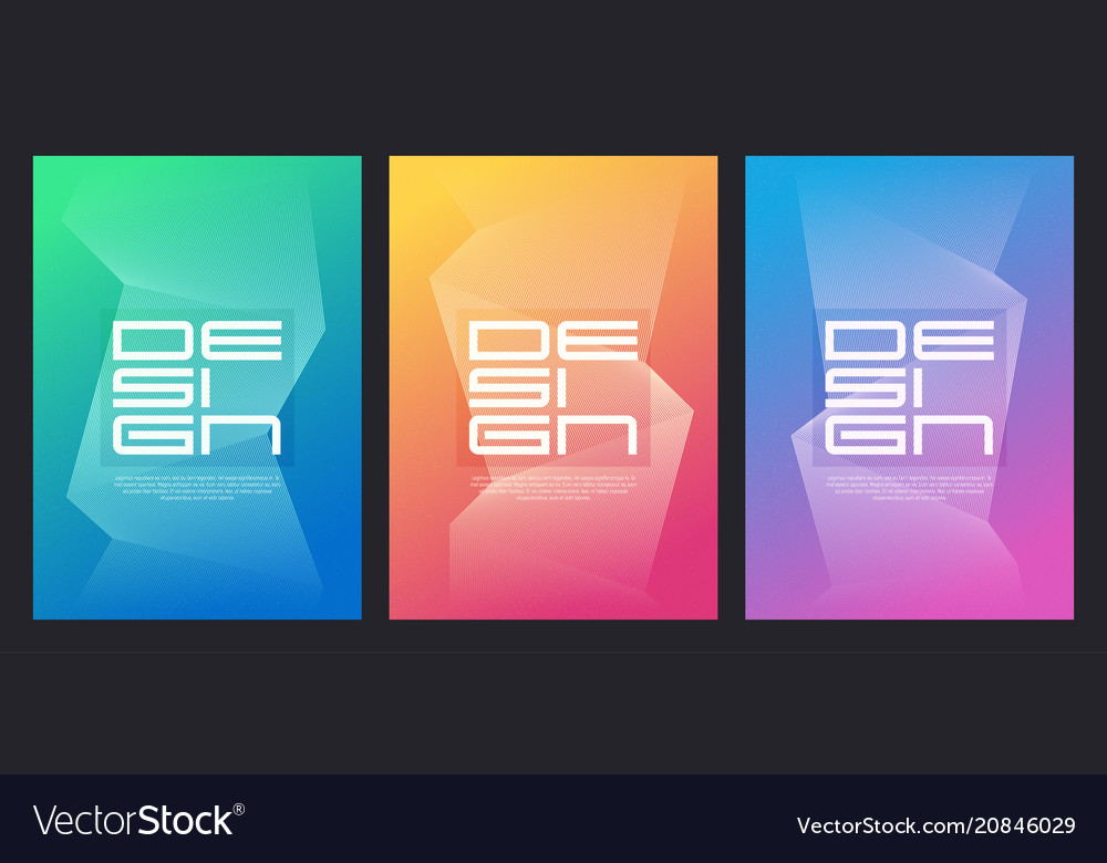 Abstract gradient minimalist cover designs