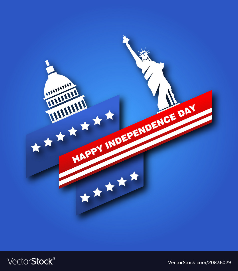 American poster for fourth of july independence vector image
