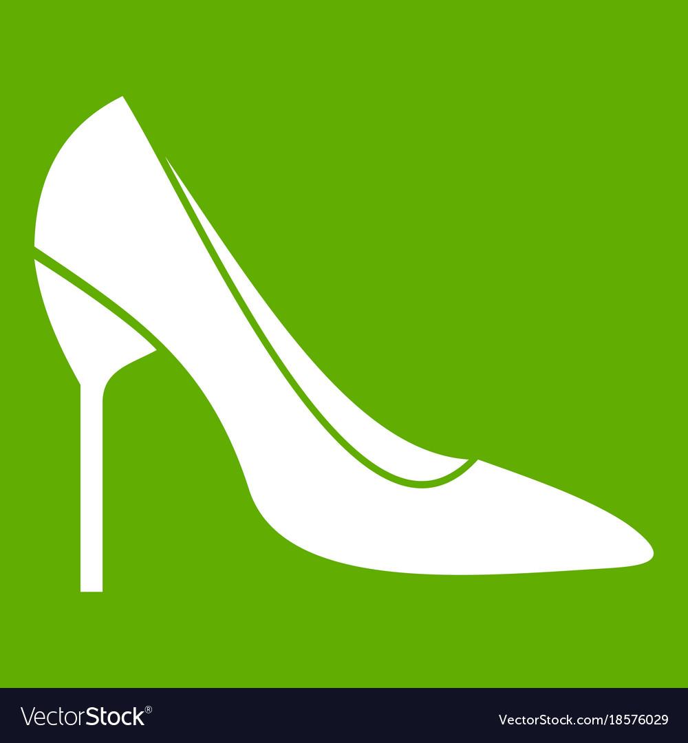 Bride shoes icon green