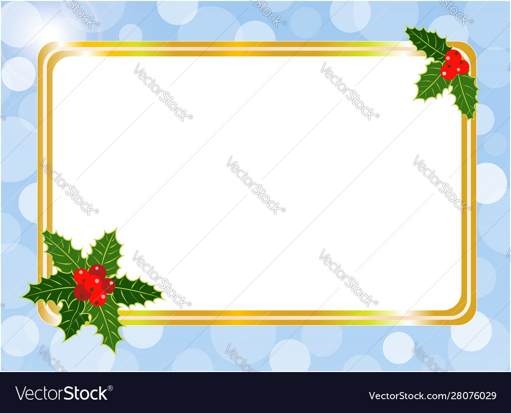Christmas card frame design template