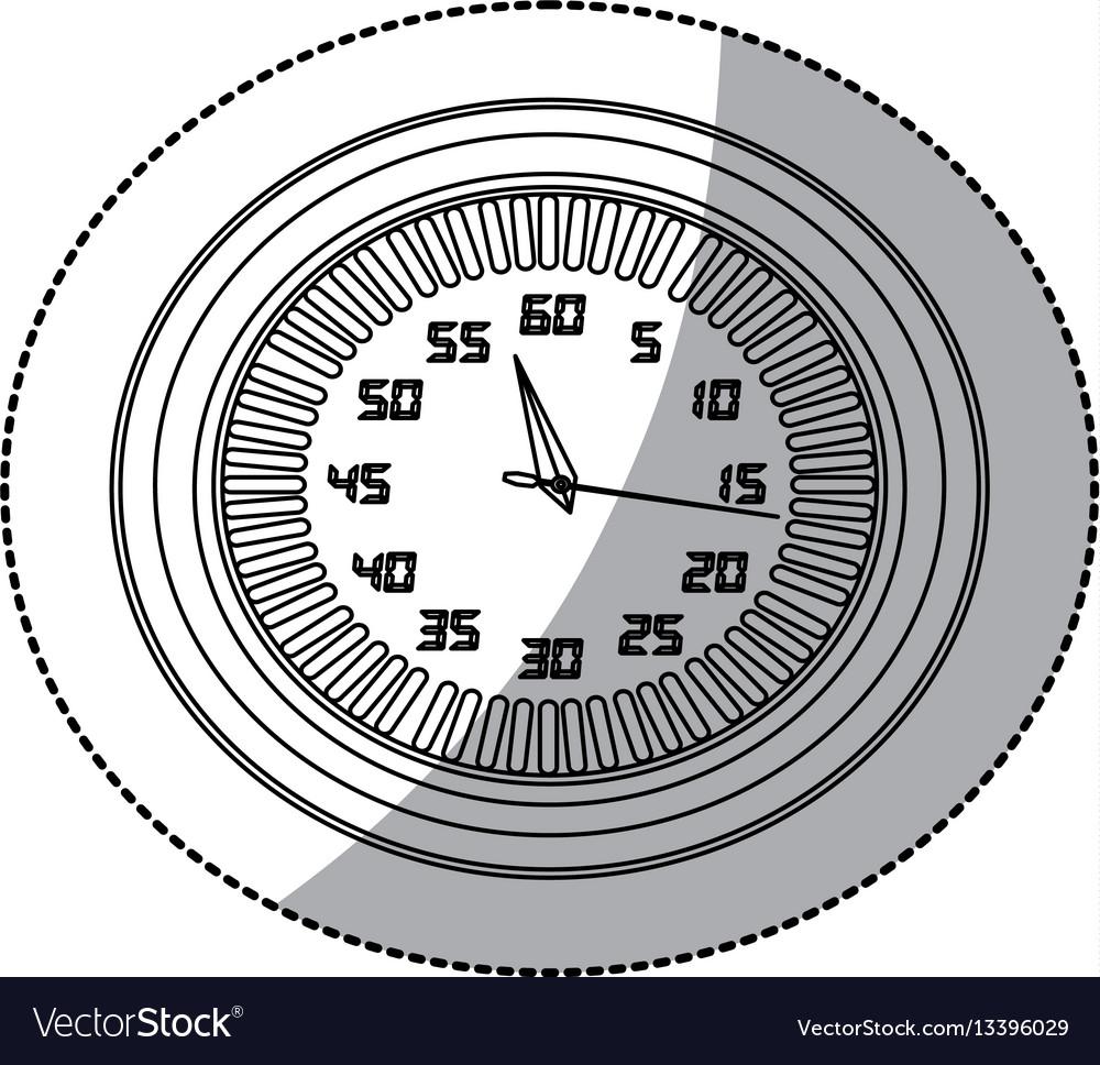 Figure round clock icon