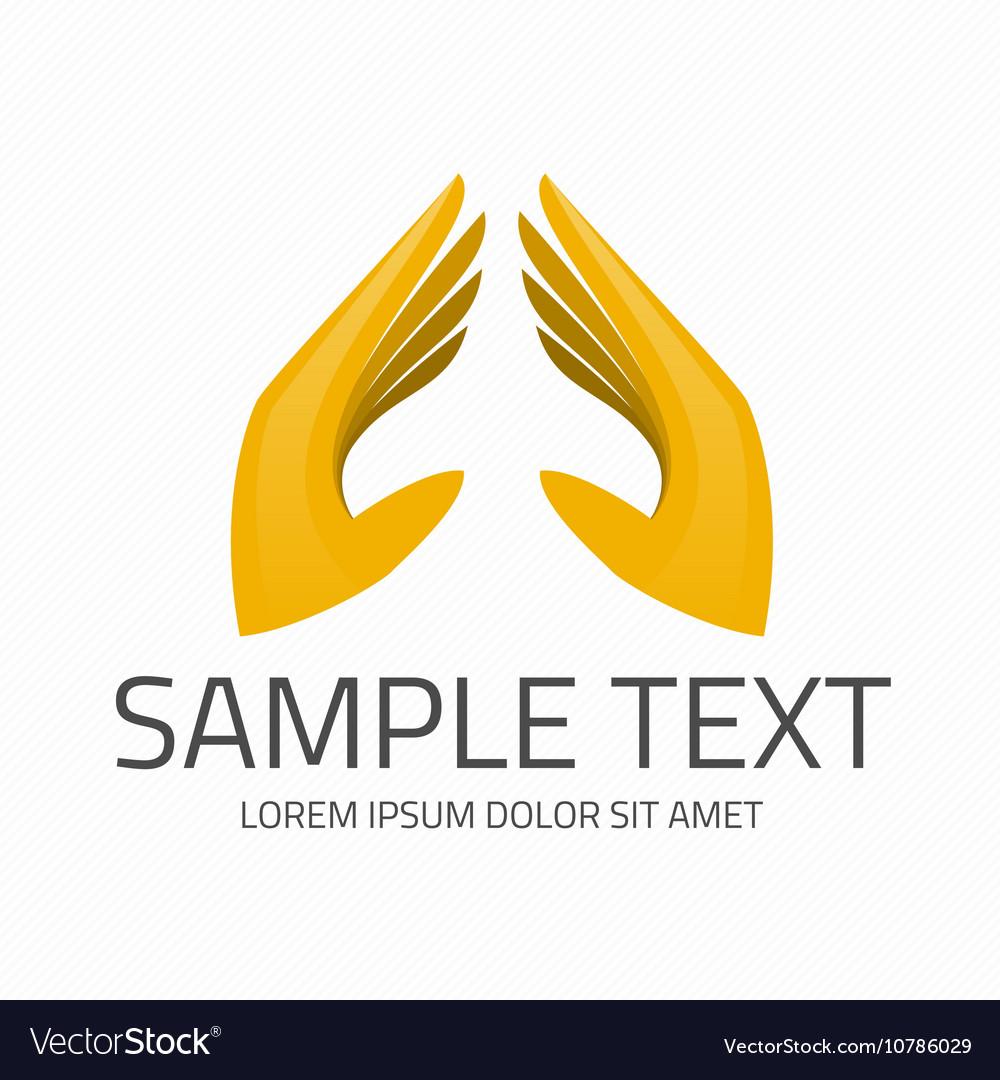 Hands logo template vector image