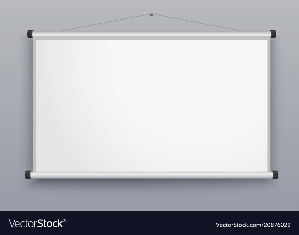 presentation screen blank whiteboard royalty free vector