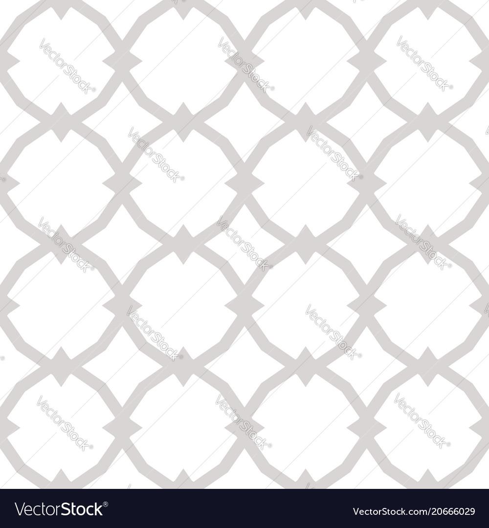 Subtle ornamental seamless pattern vector image