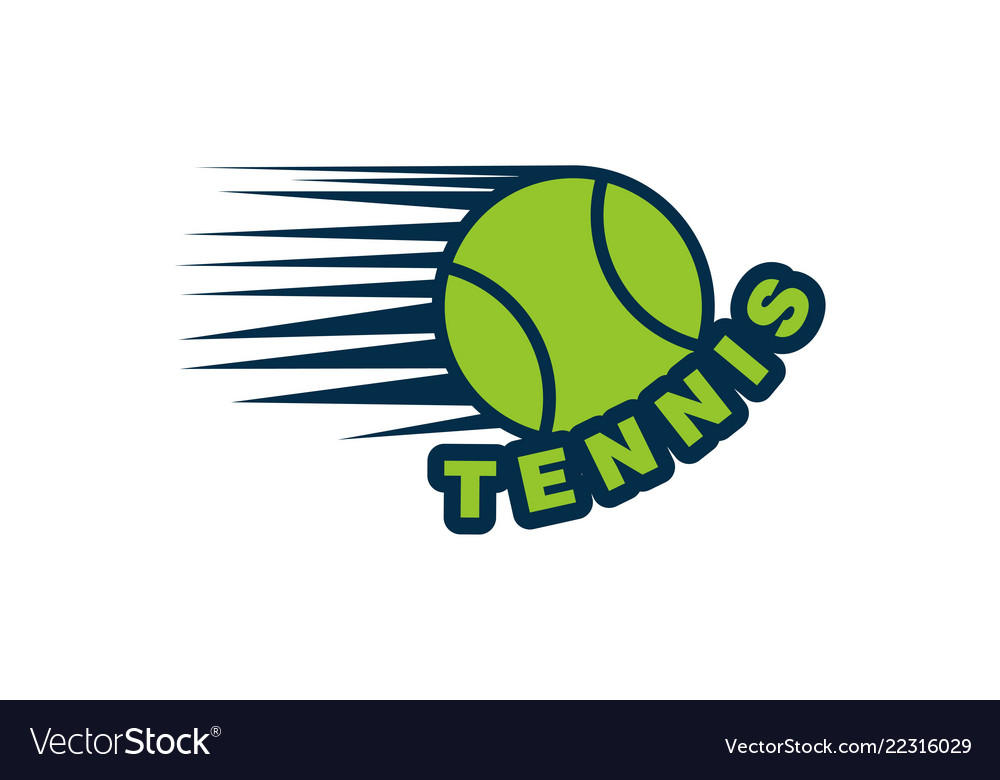 Tennis ball logo designs inspiration isolated on
