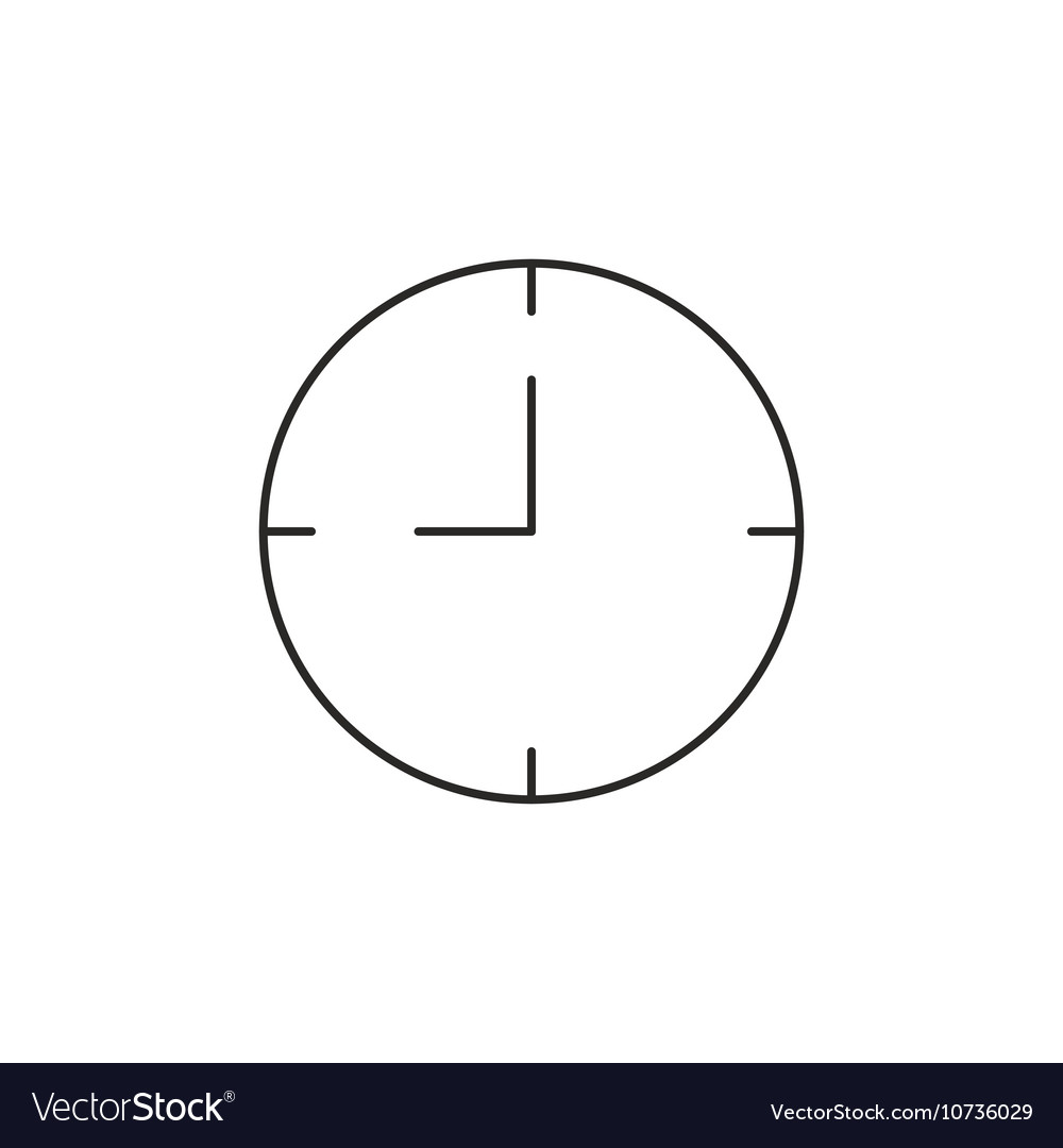 time clock icon outline royalty free vector image