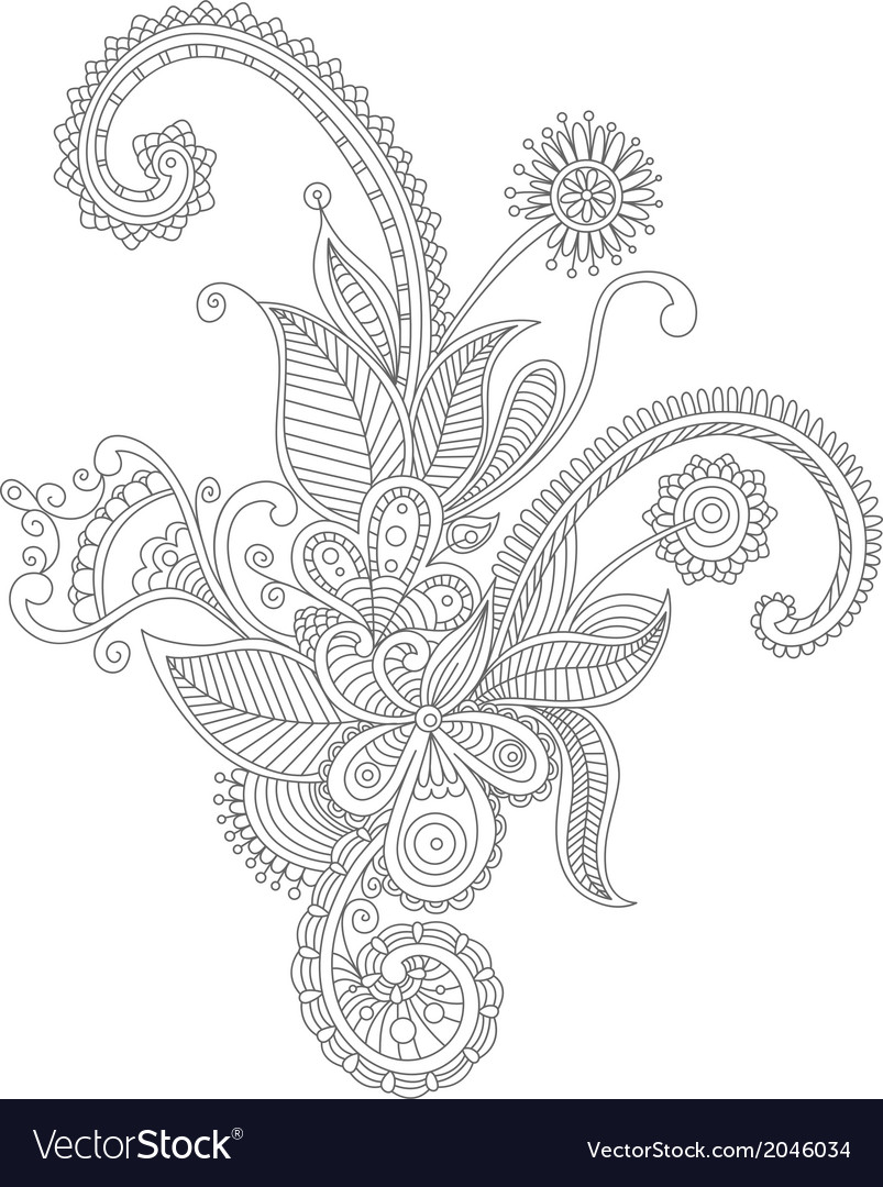Abstract flourish background vector image