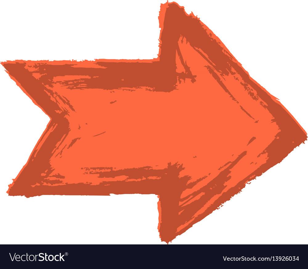 Arrow symbol watercolour style vector image