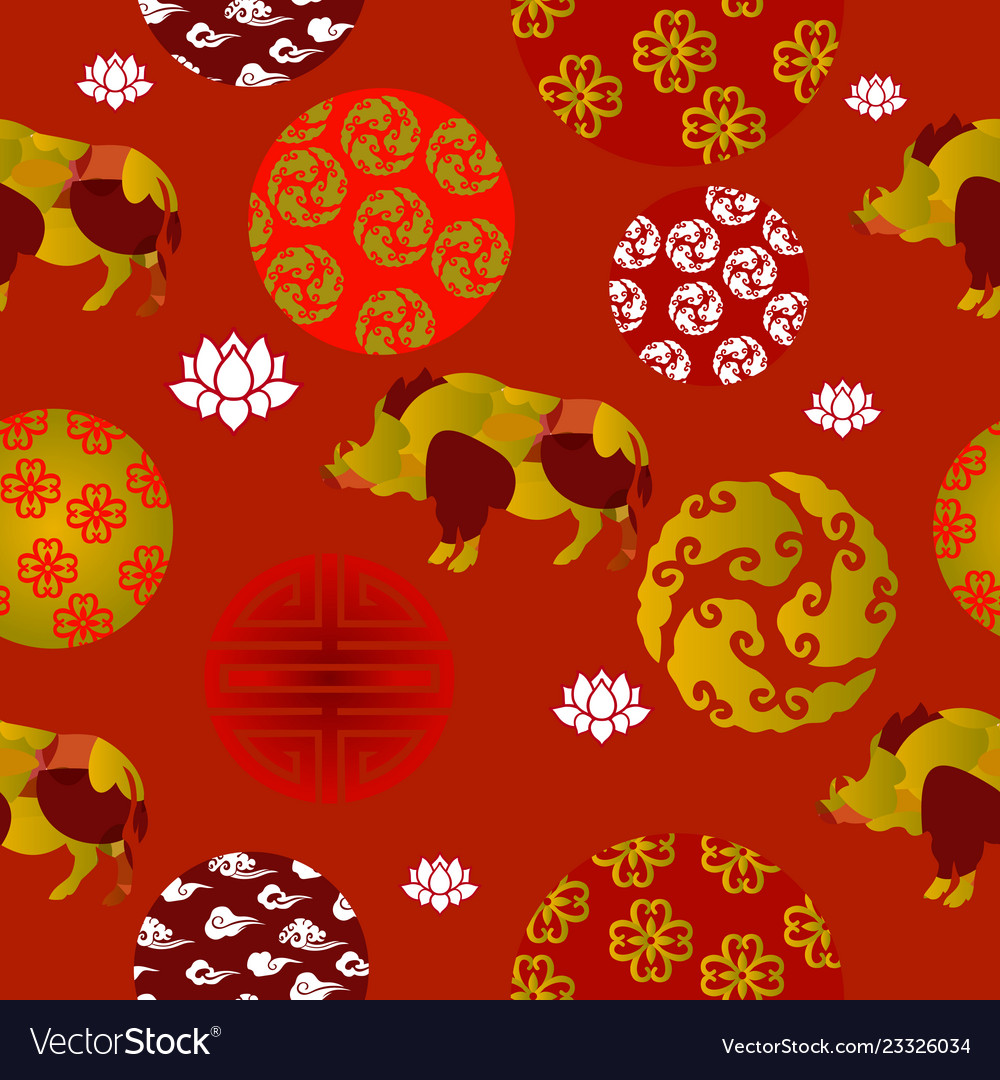 Chinese new year seamless patern