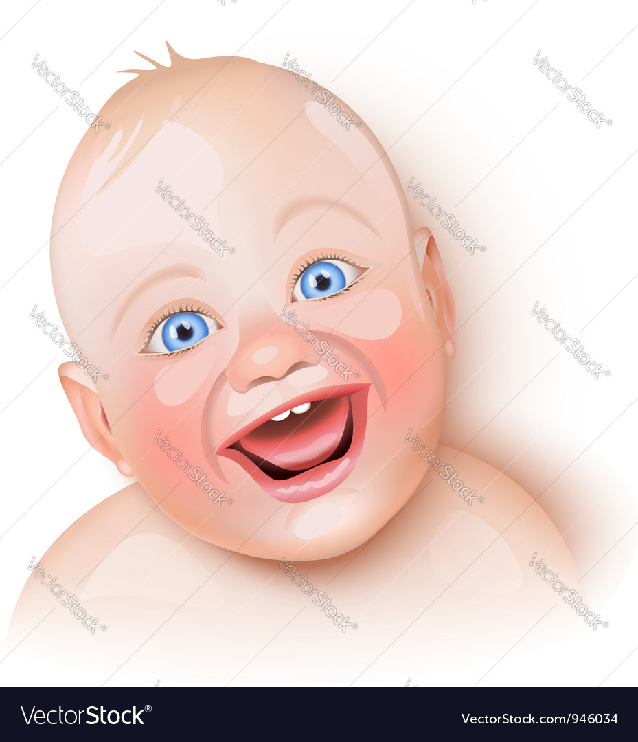 Cute baby is laughing