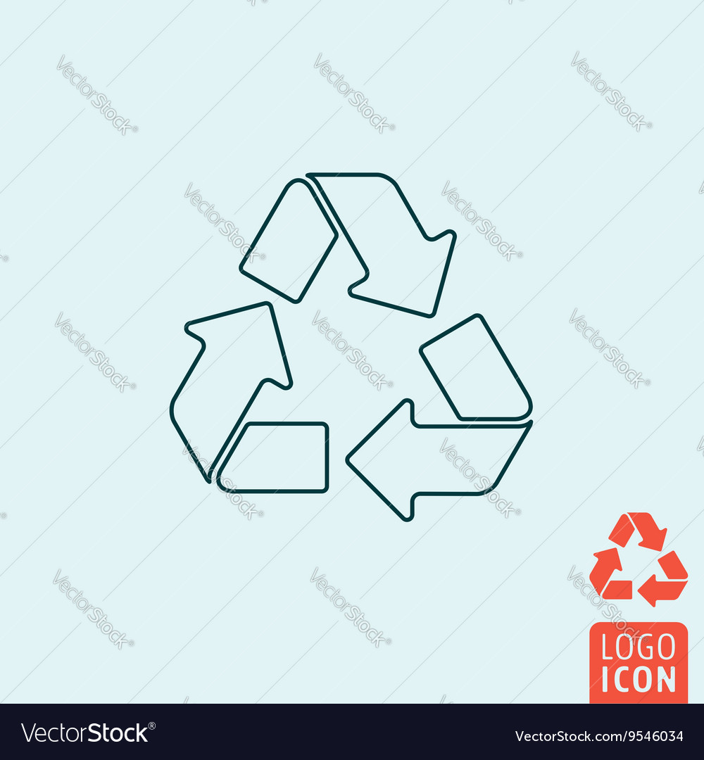 Recycle icon isolated vector image
