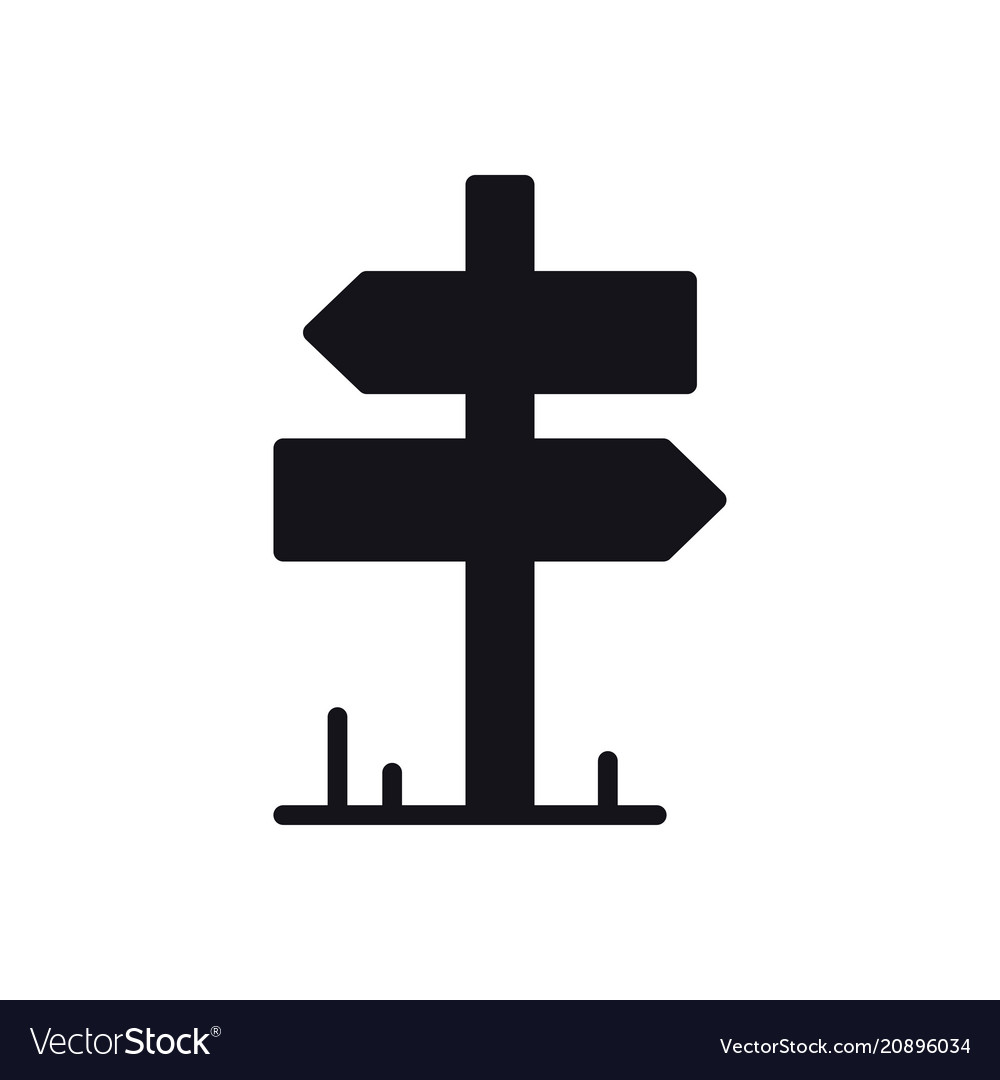 signpost icon road sign and symbol direction vector image