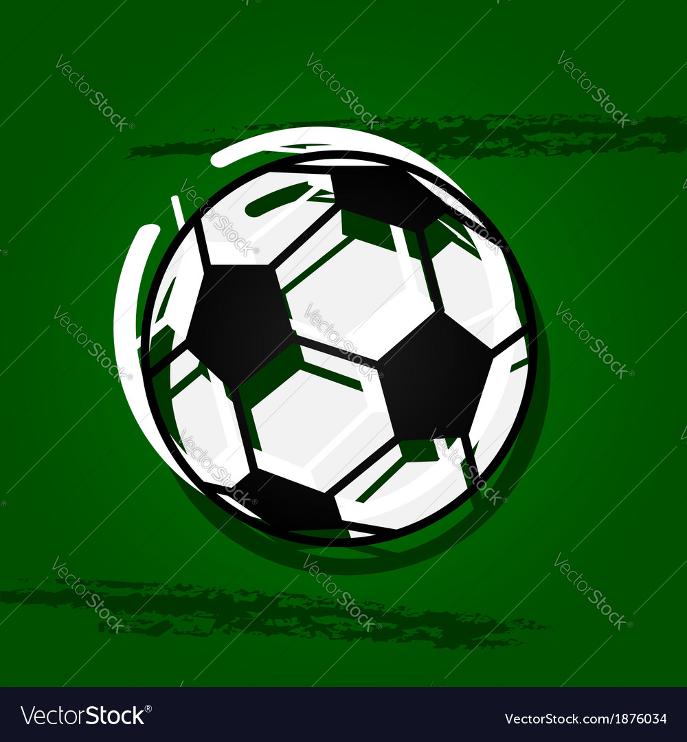 Stylized soccer ball