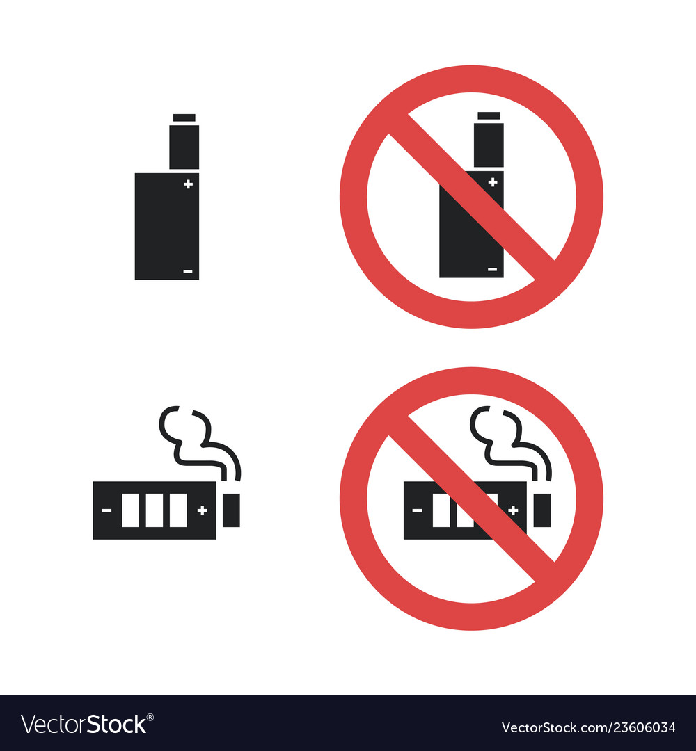 Vaping device not allowed forbidding sign