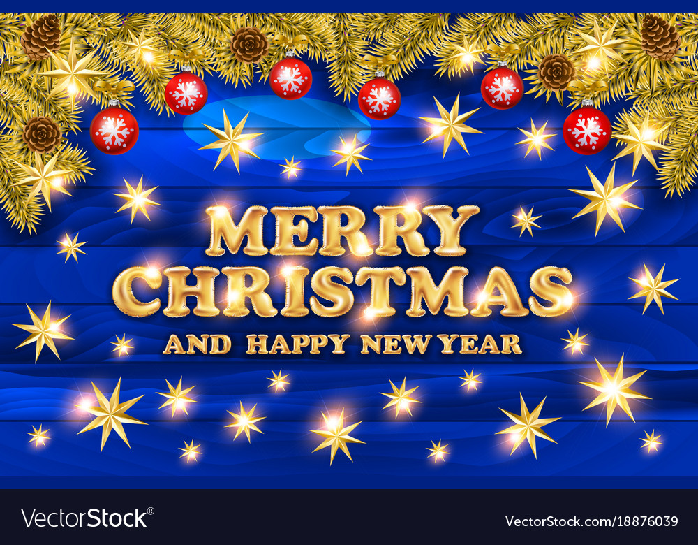 2018 merry christmas and happy new year card with vector image