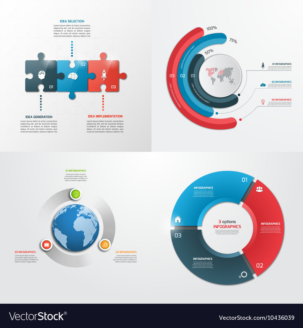 3 steps infographic templates Business concept