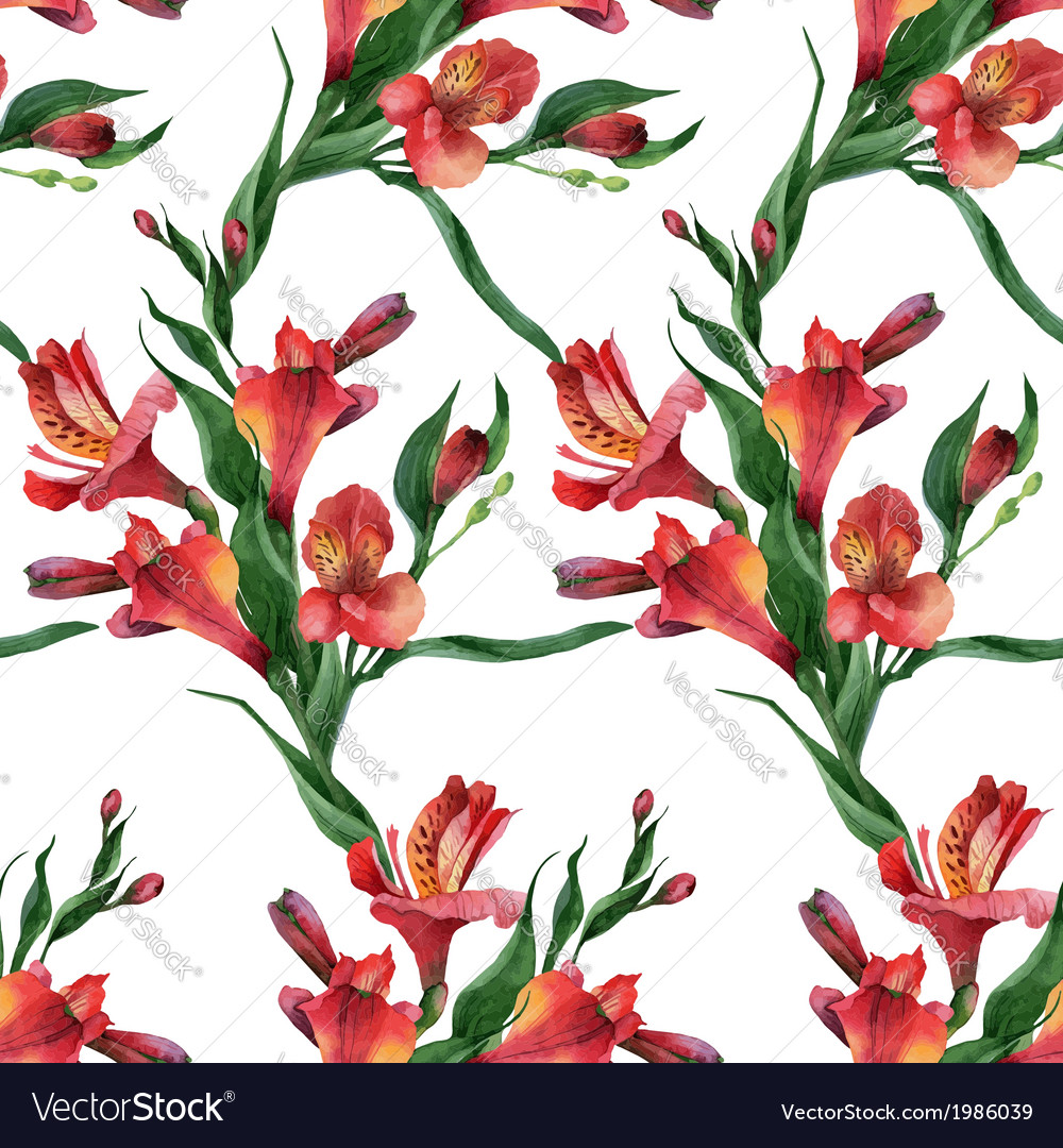 Floral pattern Seamless background Red