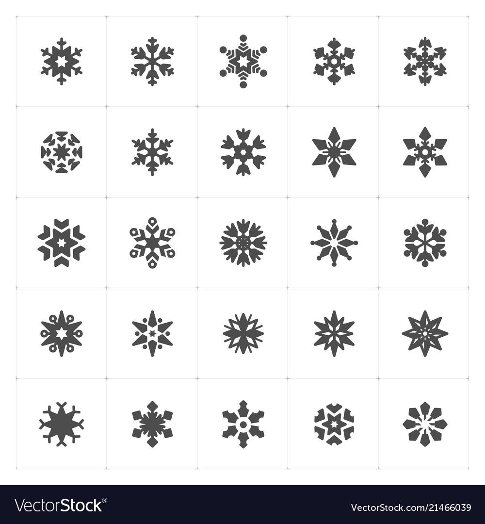 Icon set - snowflake filled icon style