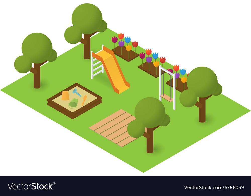Isometric playground