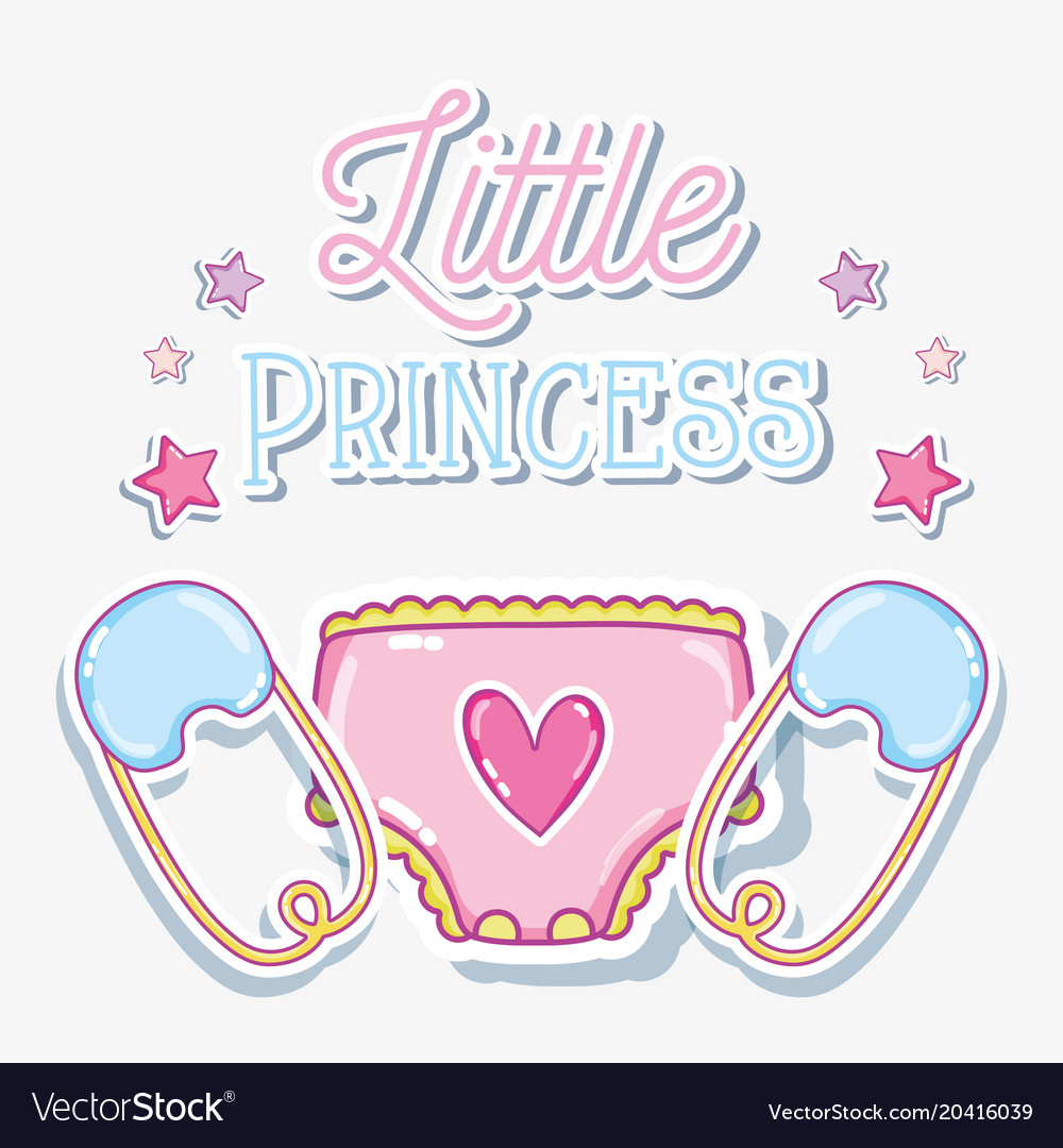 Little princess baby girl card