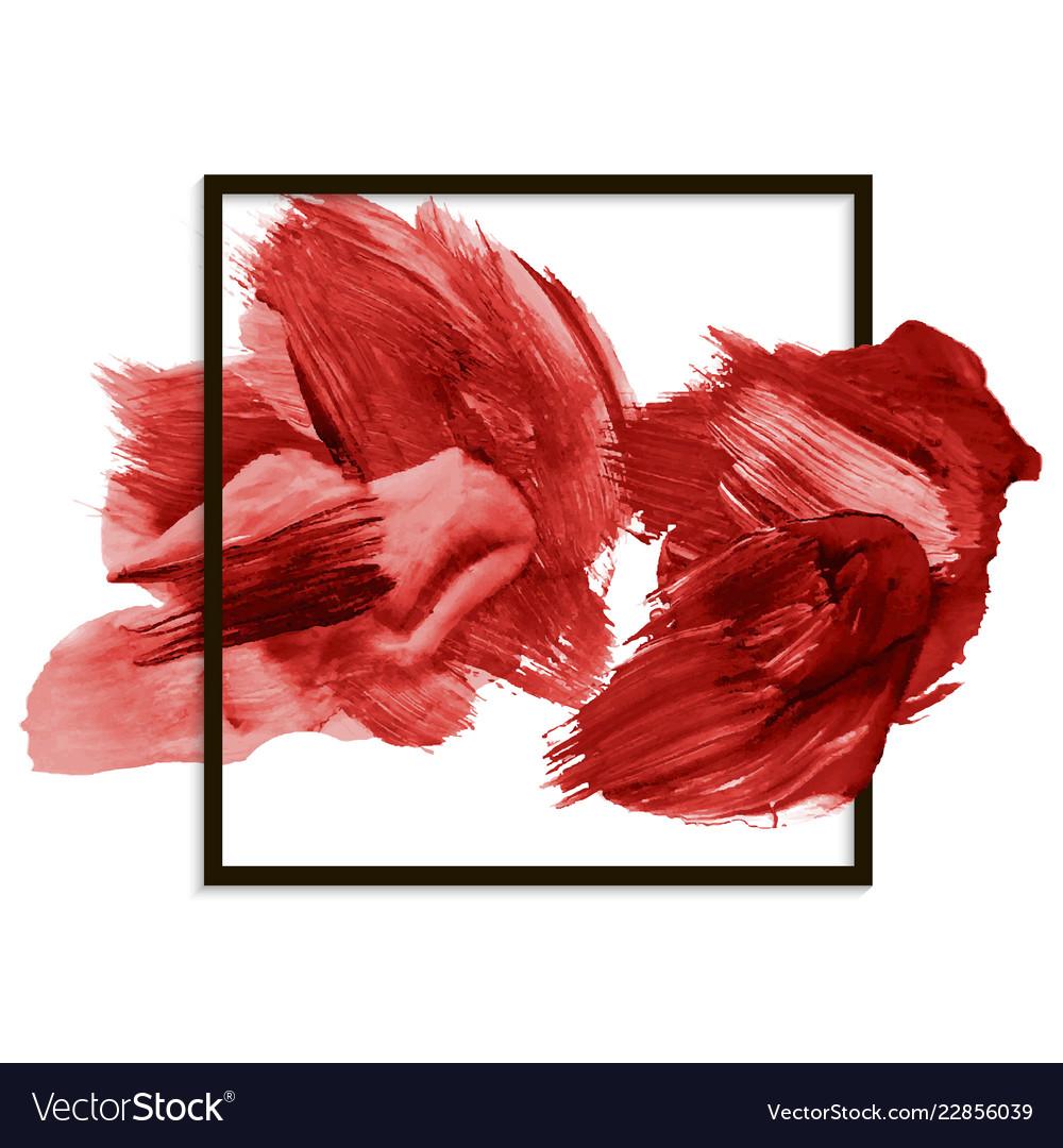 Modern red banner abstract blot brushstroke