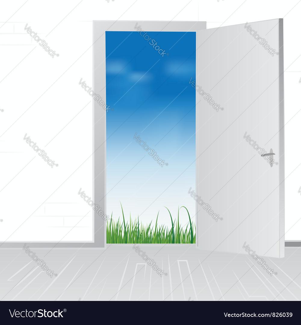 Open door to nature