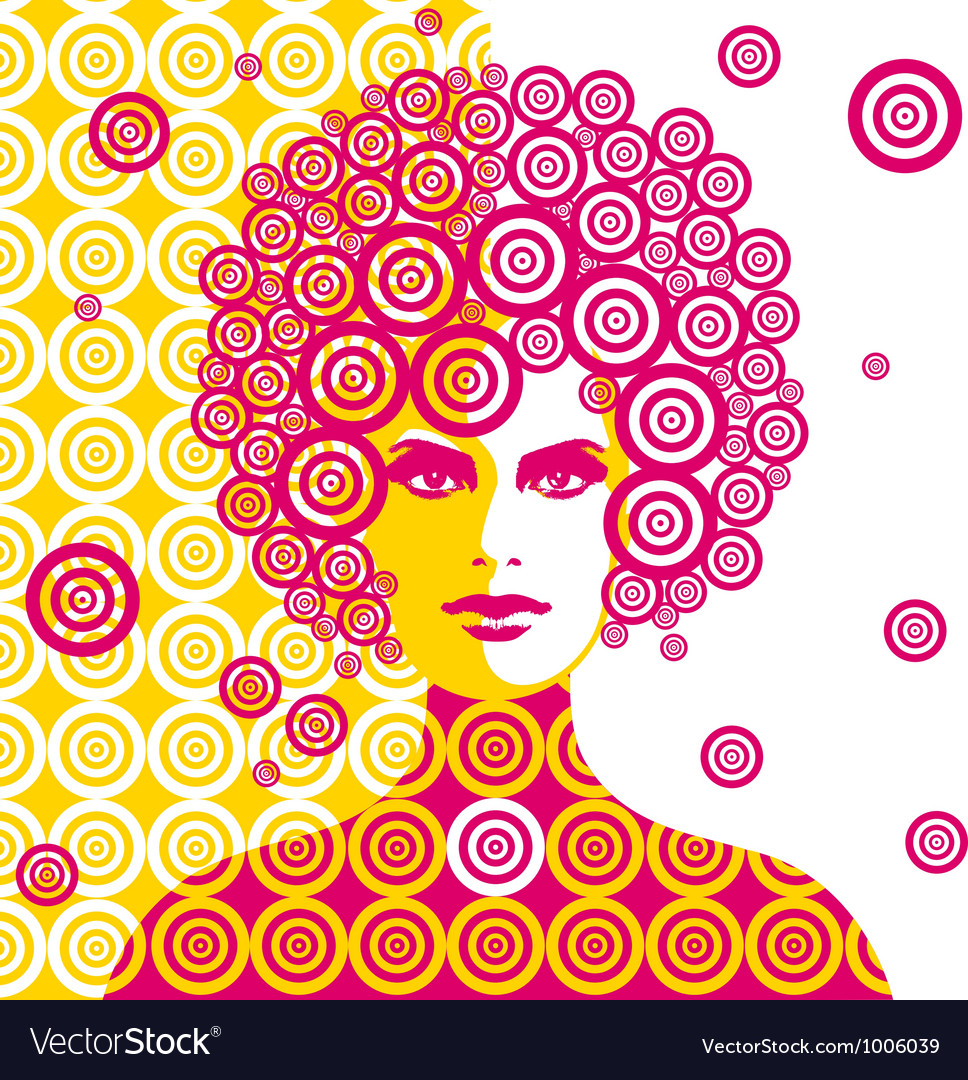 Sixties woman vector image