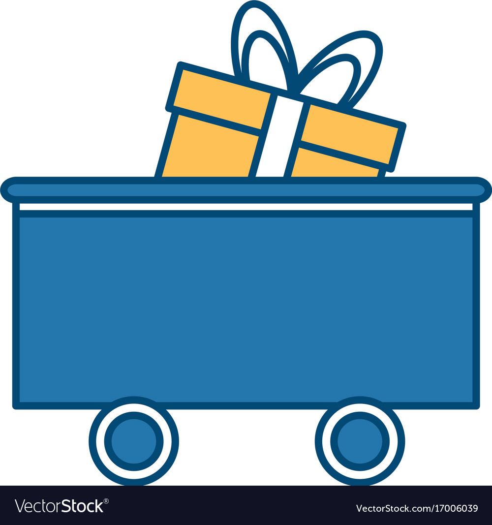 Train car gift box delivery logistics transport