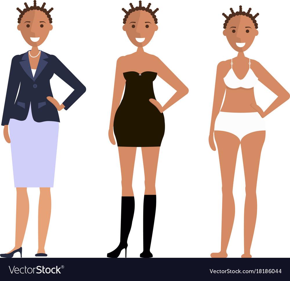 American models girls vector image