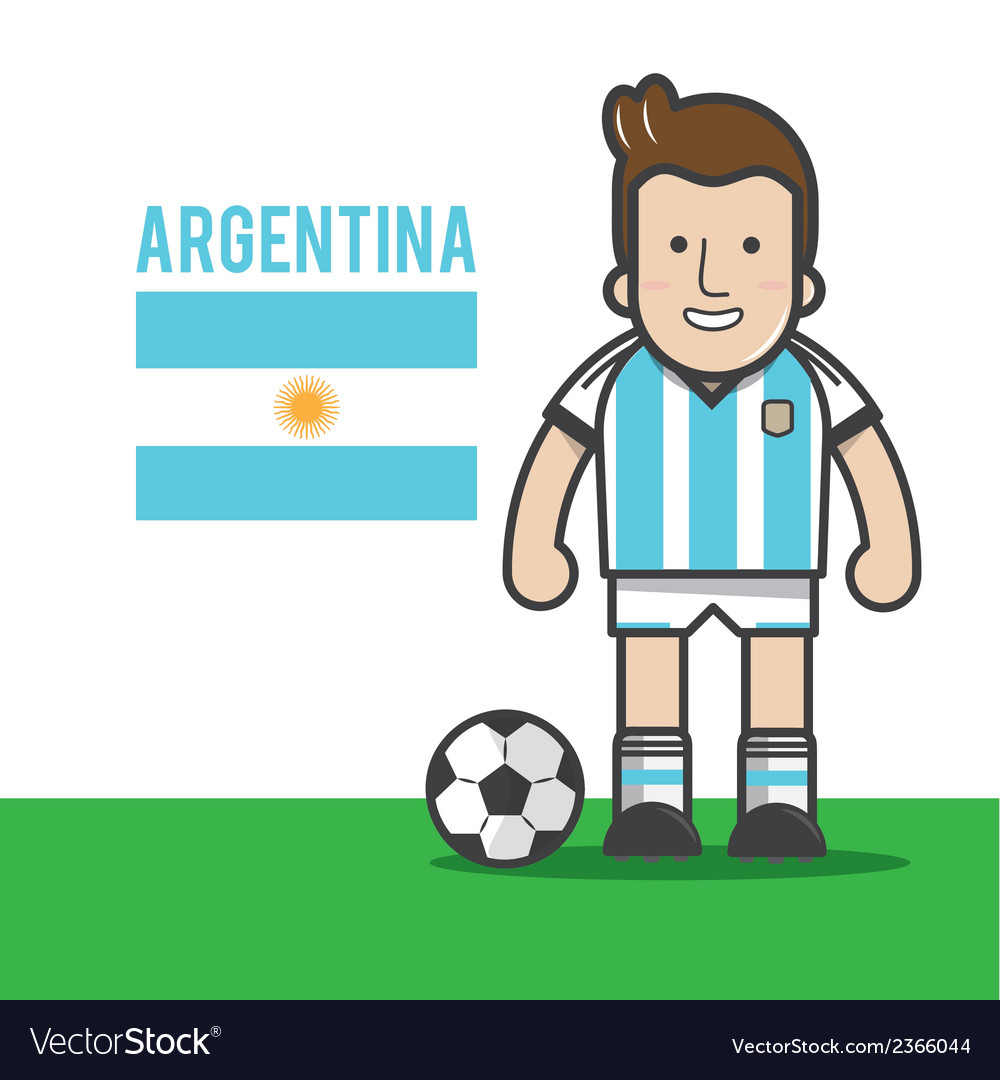 ARGENTINA-soccer-player vector image