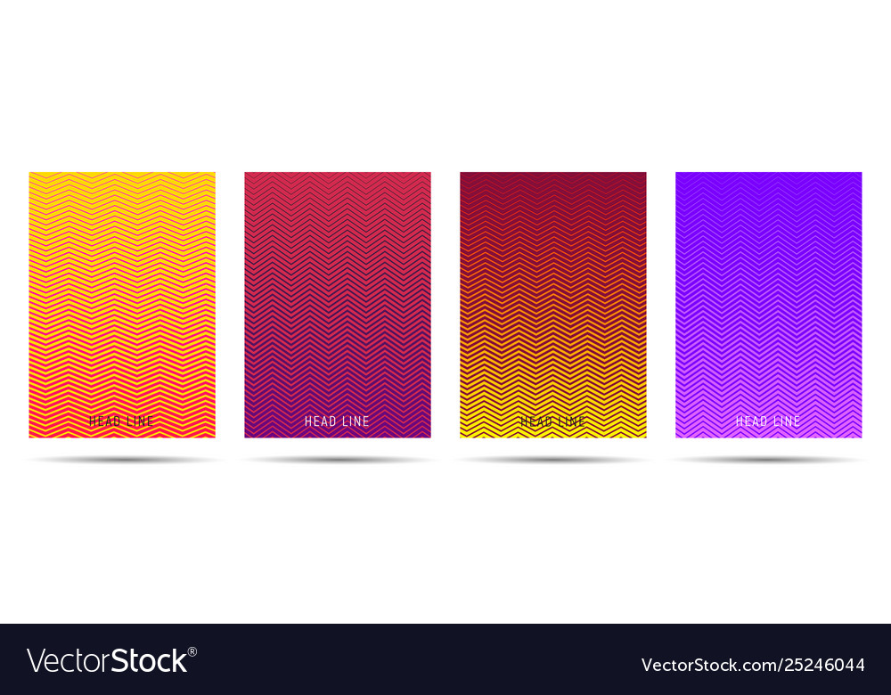 Bright posters templates with modern line pattern