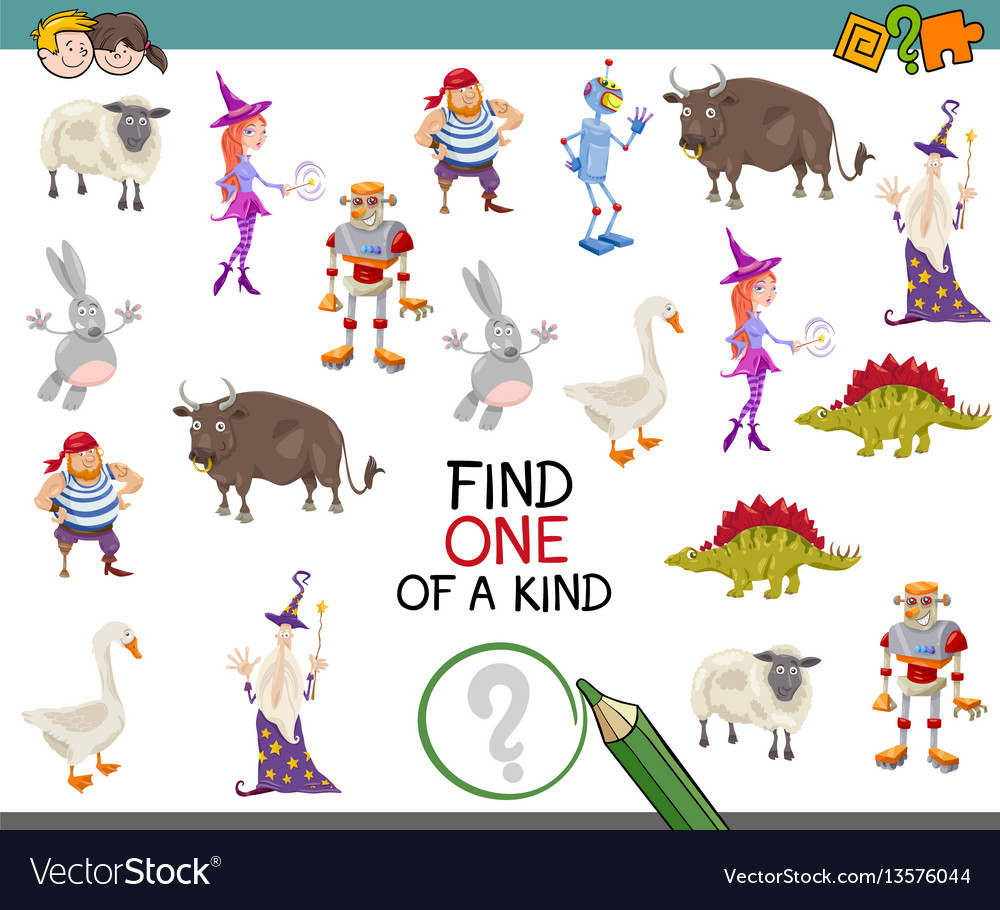Find One Of A Kind Royalty Free Vector Image Vectorstock