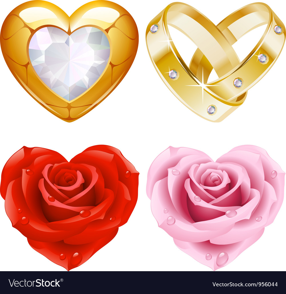 Golden jewellery and roses