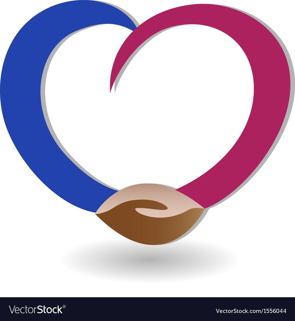 Handshaking business logo vector image