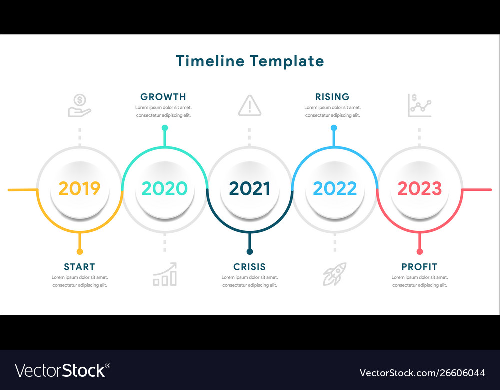 Infographic elements for timeline template