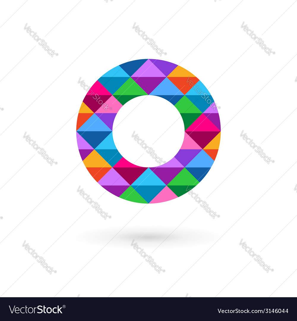 Letter O mosaic logo icon design template elements