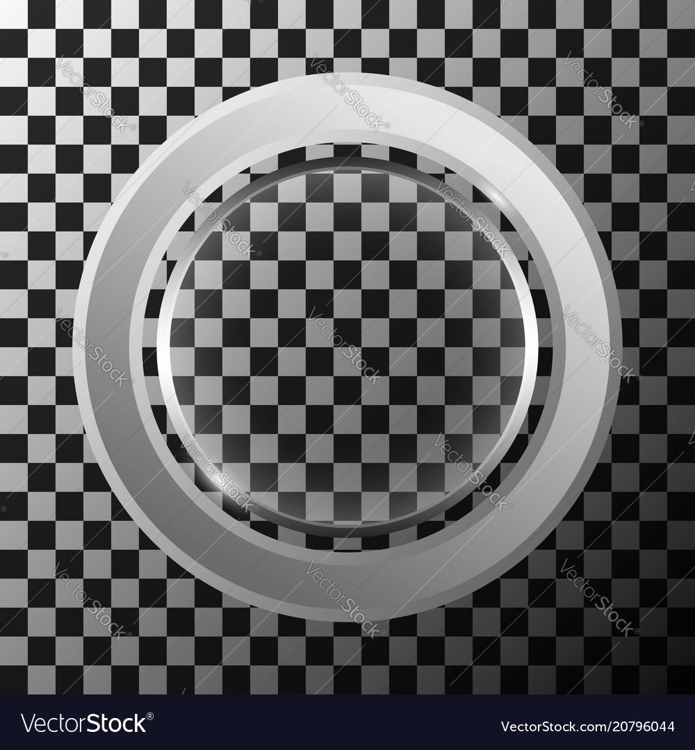 Metal ring with round lense vector image