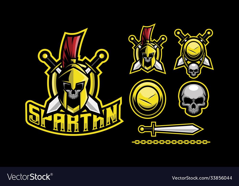 Spartan mascot logo design