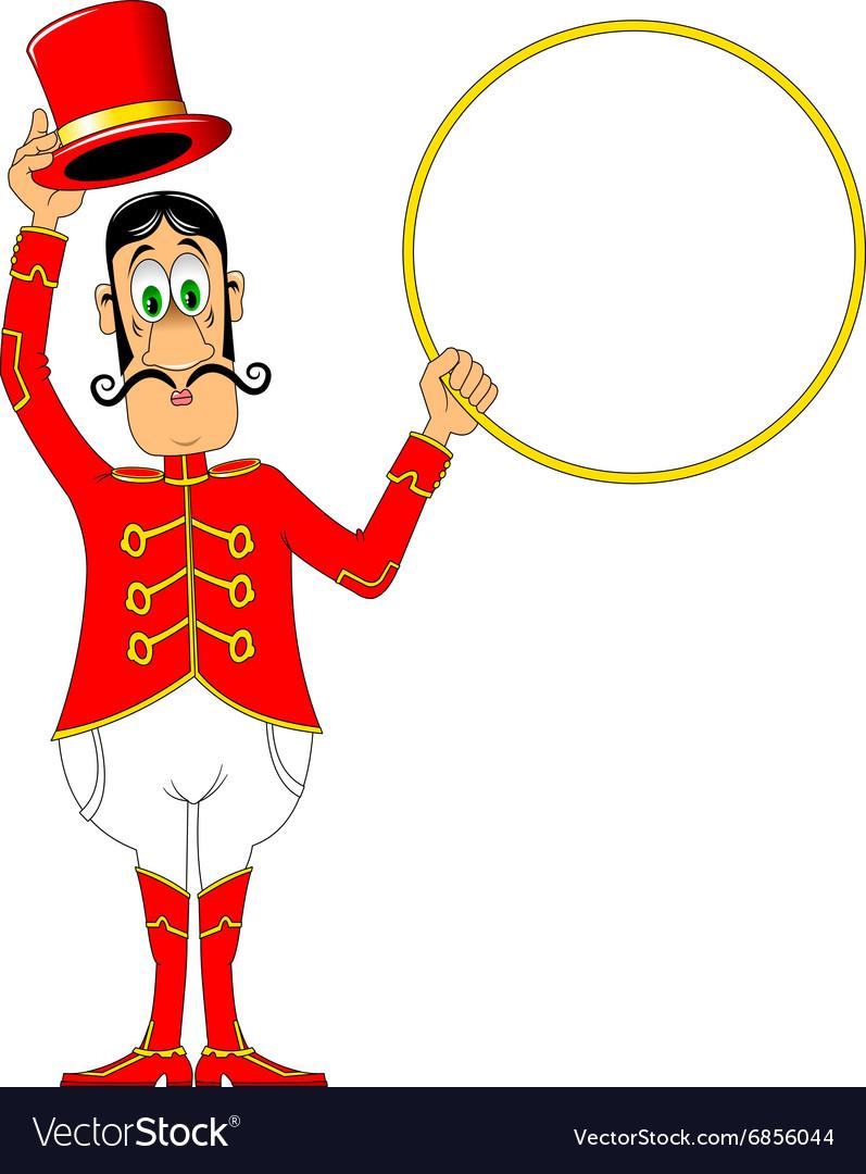 рисунок дрессировщика в цирке природе окраска