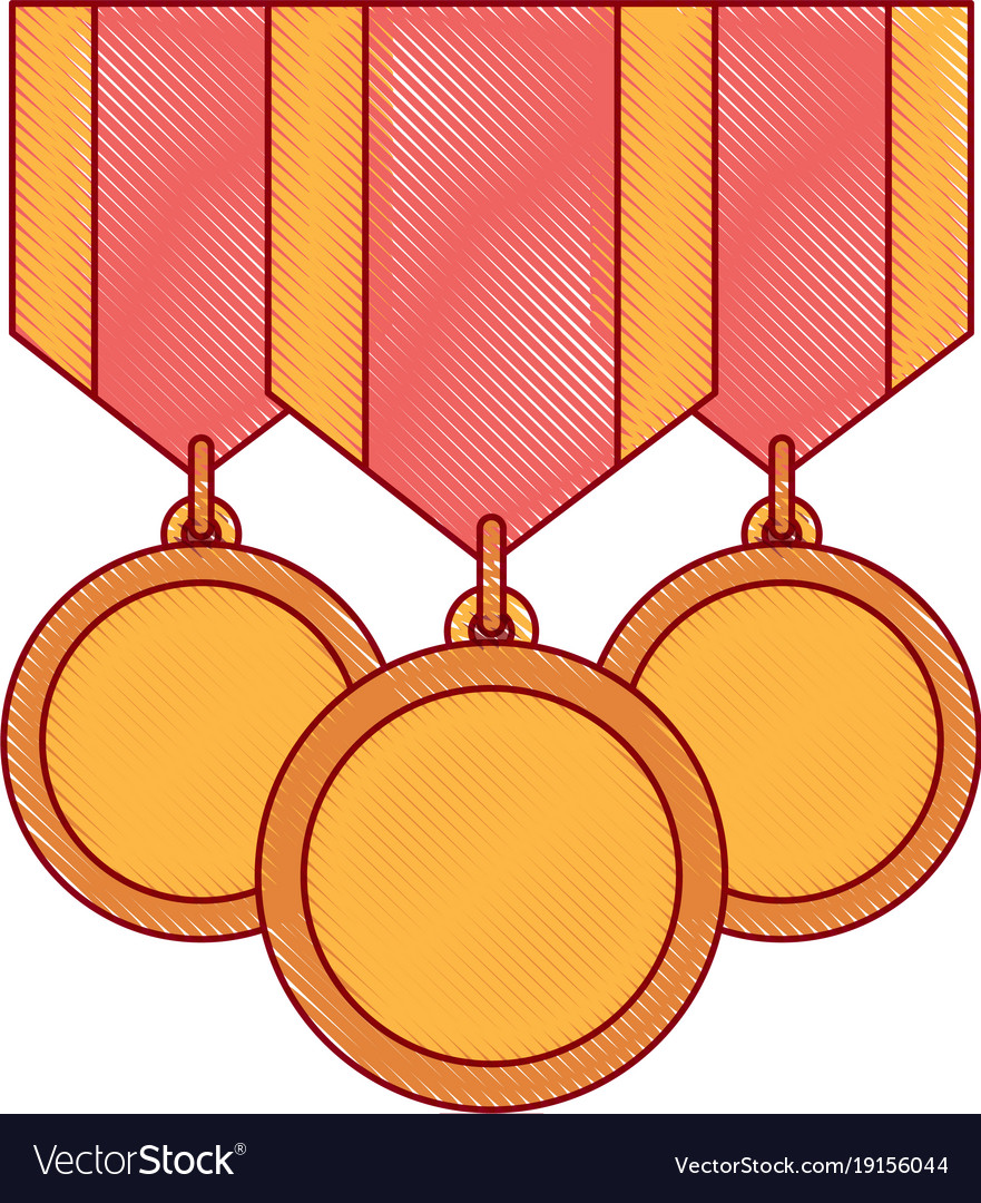 Winner medals isolated icon