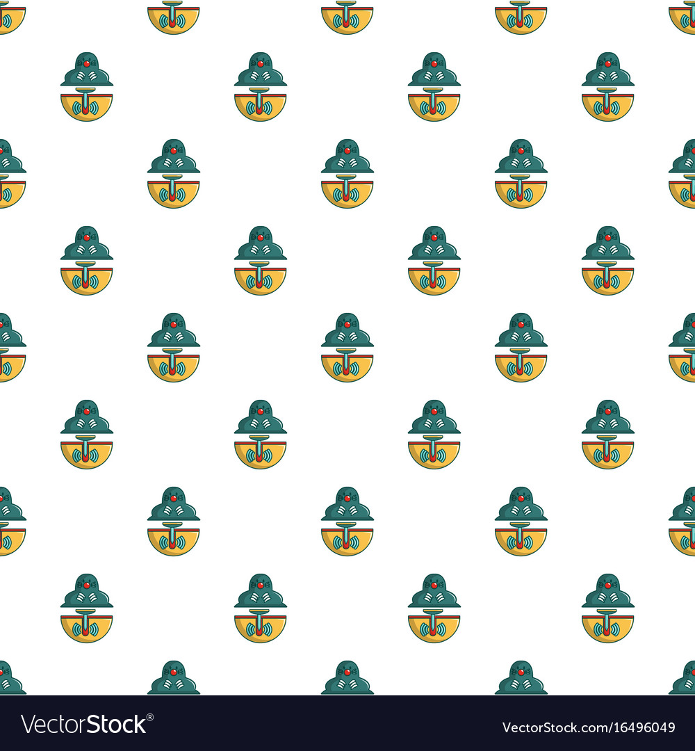 Anti rodents device pattern seamless vector image