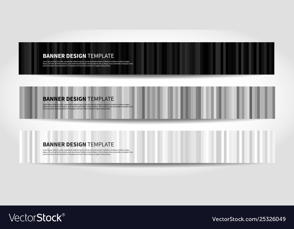Banners with abstract geometric background