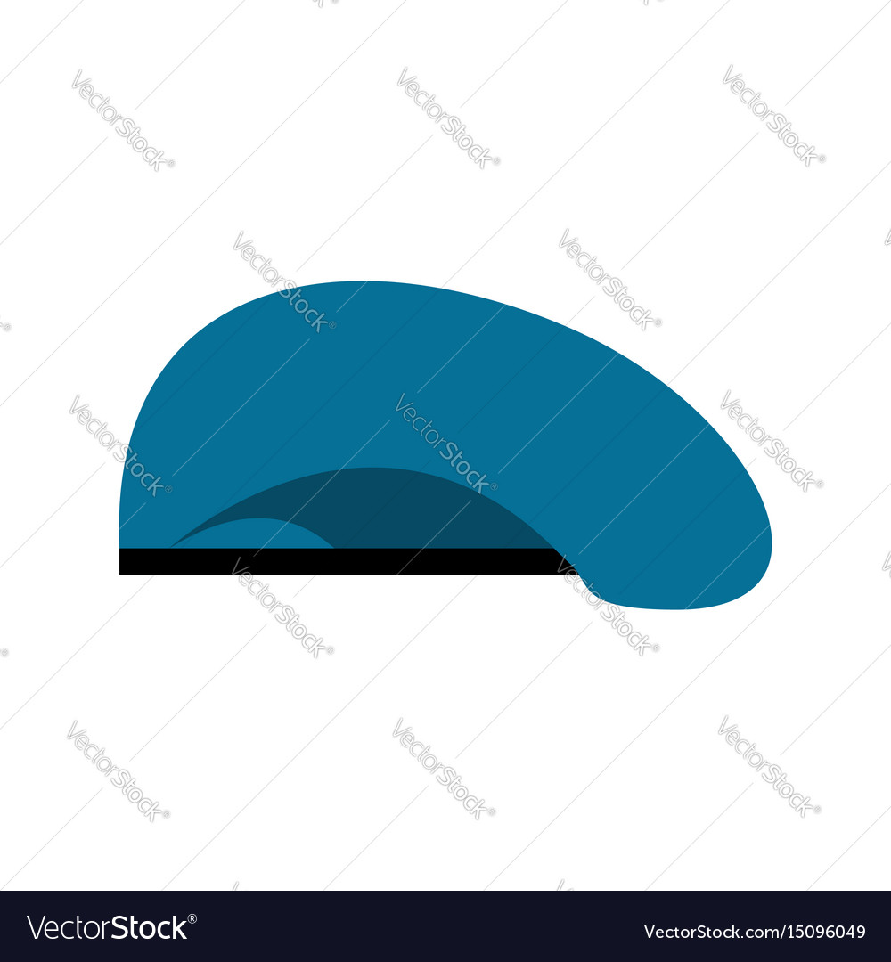 cc0c1a65c9e Beret military blue soldiers cap army hat war Vector Image