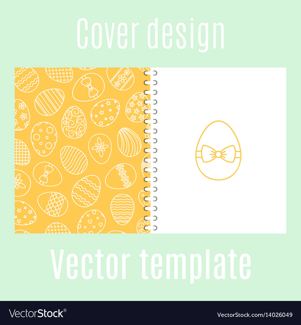 Cover design with easter eggs pattern