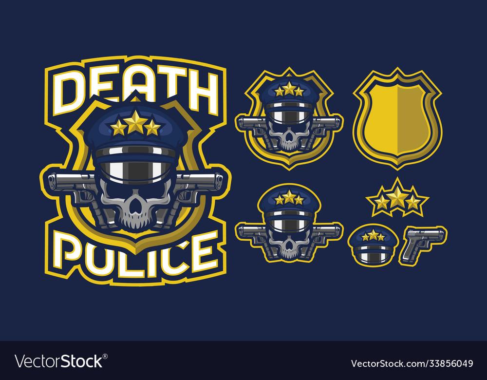 Death police mascot logo design